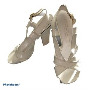 Marc Jacobs White Patent Leather Sandals 36.5